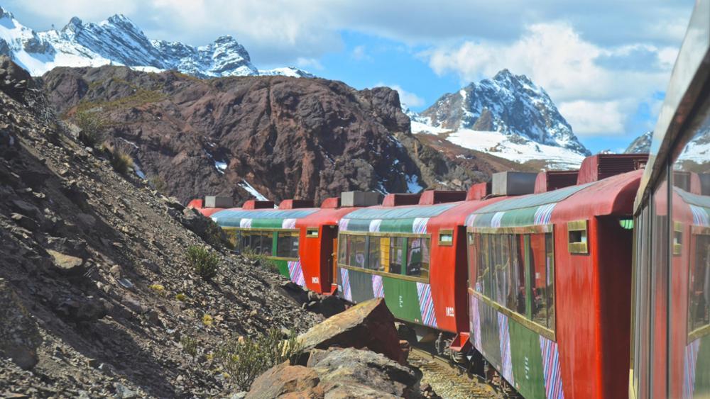 Le train entre Lima et Huancayo